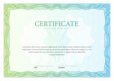certificaat Malplaatjediploma's, munt Vector Royalty-vrije Stock Foto