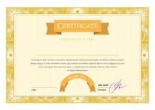certificaat Malplaatjediploma's, munt Vector Royalty-vrije Stock Foto's