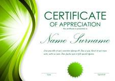 Certificaat van appreciatiemalplaatje stock illustratie