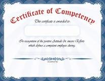 Certificaat van bekwaamheid Royalty-vrije Stock Foto