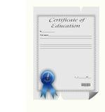Certificaat van onderwijs Stock Foto