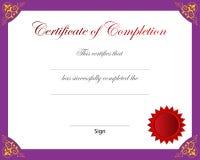 Certificaat van voltooiing vector illustratie
