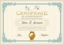 Certificaat van Voltooiings Uitstekend Kader Landschap Royalty-vrije Stock Foto