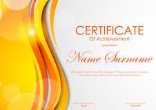 Certificaat van voltooiingsmalplaatje royalty-vrije illustratie