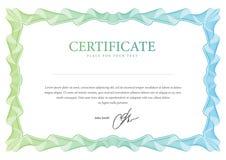 Certificaat. Vectormalplaatje Stock Afbeeldingen