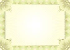 Certificaatachtergrond Royalty-vrije Stock Fotografie