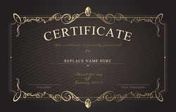 Certificaatgrens, Certificaatmalplaatje Vector illustratie Stock Foto