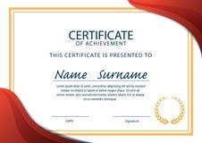 Certificaatmalplaatje, diploma, A4 grootte, vector Royalty-vrije Stock Fotografie