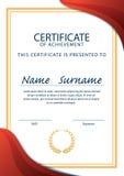 Certificaatmalplaatje, diploma, A4 grootte, vector Stock Afbeeldingen