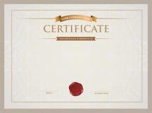 Certificaatmalplaatje en element Stock Afbeeldingen