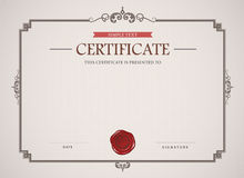 Certificaatmalplaatje en element Stock Afbeelding