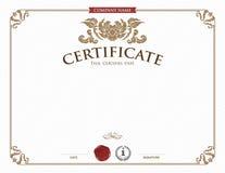 Certificaatmalplaatje en element Stock Foto