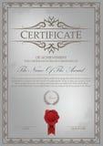 Certificaatmalplaatje met grenscombinatie Stock Afbeelding
