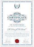 Certificaatmalplaatje met guilloche elementen Stock Afbeeldingen