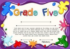 Certificaatmalplaatje voor rang vijf vector illustratie