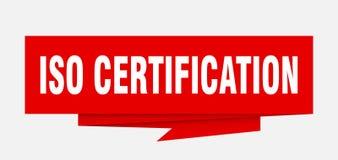 certificación de la ISO stock de ilustración