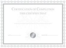 Certificación de la realización ilustración del vector