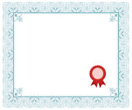 Certificado Imagem de Stock