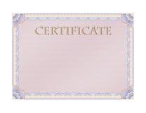 Certificado Fotos de archivo libres de regalías