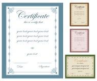 Certificado Imágenes de archivo libres de regalías