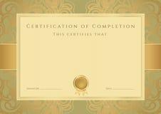 Certificado Foto de Stock