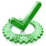 Certificado Foto de archivo libre de regalías