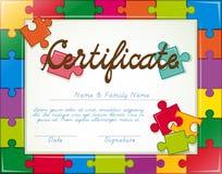certificado Foto de archivo