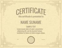 certificado Foto de Stock Royalty Free