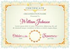 Certificado blanco clásico Imágenes de archivo libres de regalías