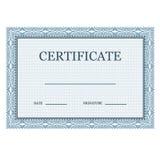 Certificado clásico en blanco decorativo Imagenes de archivo