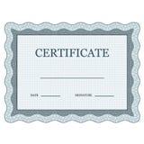 Certificado clásico en blanco decorativo Imagen de archivo libre de regalías