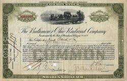 Certificado conservado em estoque velho 3 Fotografia de Stock