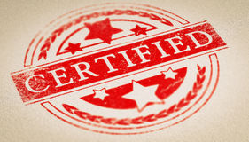 Certificado da autenticidade fotografia de stock royalty free