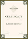 Certificado da concessão Fotografia de Stock Royalty Free