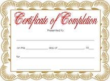 Certificado da conclusão ilustração royalty free