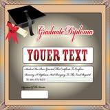 Certificado da graduação, diploma Foto de Stock