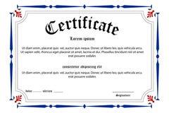 Certificado da instrução Fotos de Stock Royalty Free