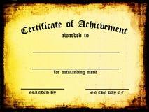 Certificado da realização Fotos de Stock Royalty Free