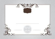 Certificado da realização Fotos de Stock