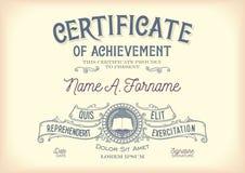 Certificado da realização vintage Fotos de Stock