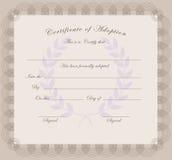 Certificado de adopción Imágenes de archivo libres de regalías