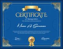 Certificado de bastidor del vintage del logro Paisaje Foto de archivo