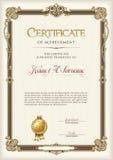 Certificado de bastidor del vintage del logro Retrato Fotografía de archivo libre de regalías