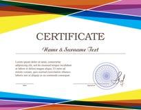 Certificado de Colorfull Imagenes de archivo