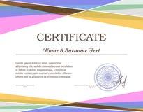 Certificado de Colorfull Foto de archivo libre de regalías