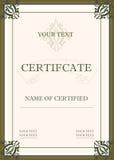 Certificado de concesión Fotografía de archivo libre de regalías