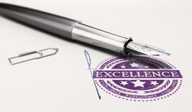 Certificado de excelencia stock de ilustración