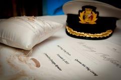Certificado de la boda imágenes de archivo libres de regalías