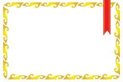 Certificado de la frontera del capítulo Imágenes de archivo libres de regalías