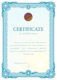 Certificado de la plantilla, moneda, diplomas. Fotos de archivo